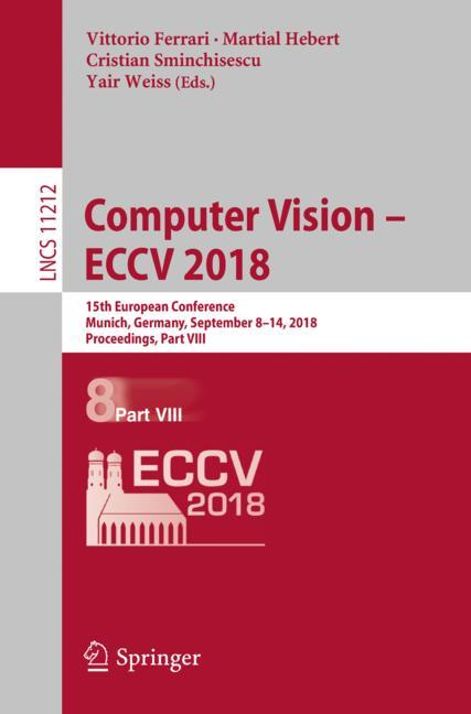 Cover of 'Computer Vision – ECCV 2018'