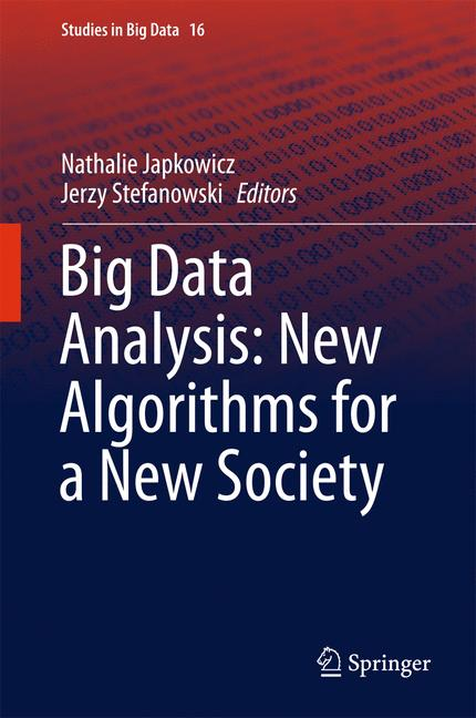 Cover of 'Big Data Analysis: New Algorithms for a New Society'