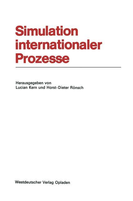 Cover of 'Simulation internationaler Prozesse'