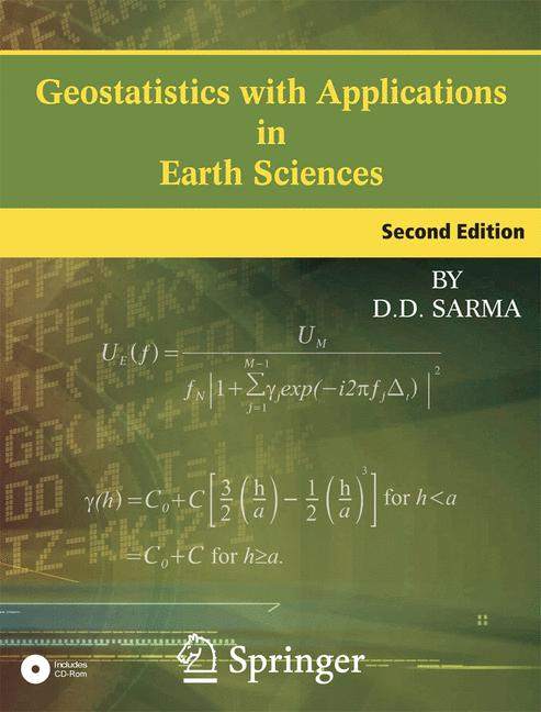 Cover of 'Geostatistics with Applications in Earth Sciences'