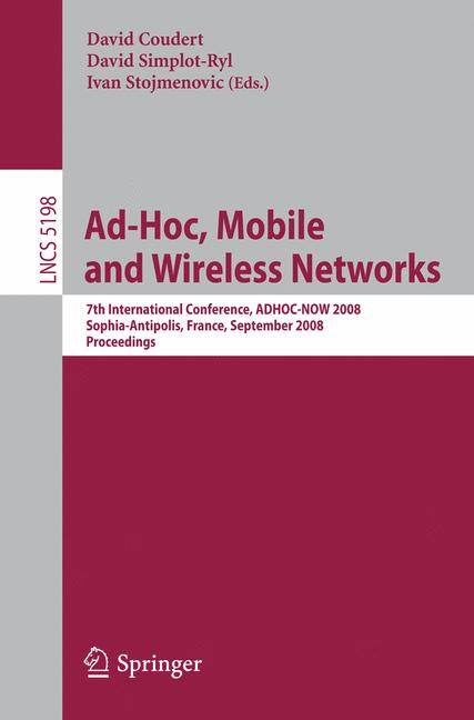 Cover of 'Ad-hoc, Mobile and Wireless Networks'