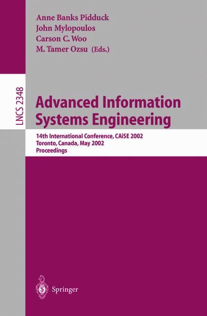 Cover of 'Advanced Information Systems Engineering'