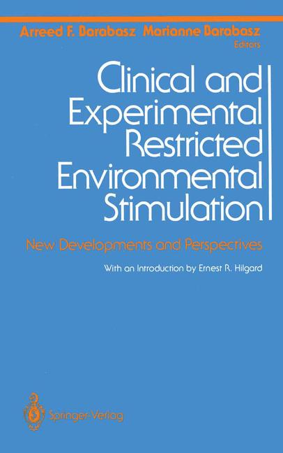 Cover of 'Clinical and Experimental Restricted Environmental Stimulation'