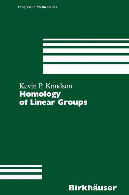 Cover of 'Homology of Linear Groups'