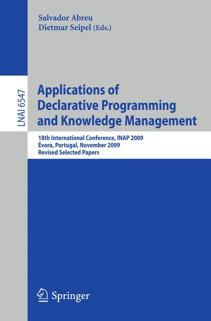 Cover of 'Applications of Declarative Programming and Knowledge Management'