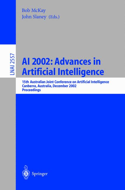 Cover of 'AI 2002: Advances in Artificial Intelligence'