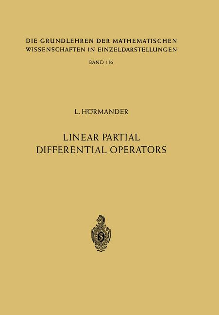 Cover of 'Linear partial differential operators'