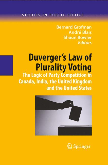 Cover of 'Duverger's Law of Plurality Voting'