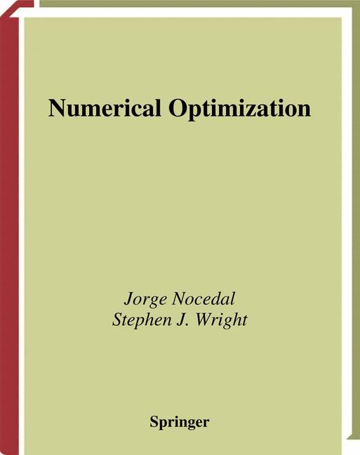 Cover of 'Numerical Optimization'