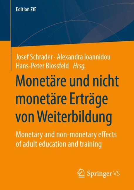 Cover of 'Monetäre und nicht monetäre Erträge von Weiterbildung'