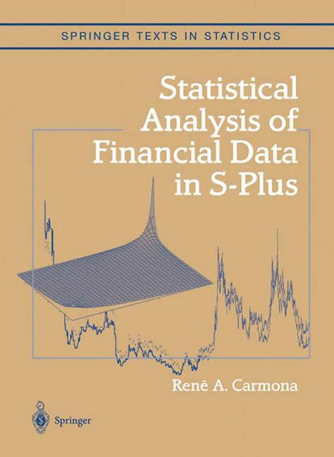 Cover of 'Statistical analysis of financial data in S-PLUS'