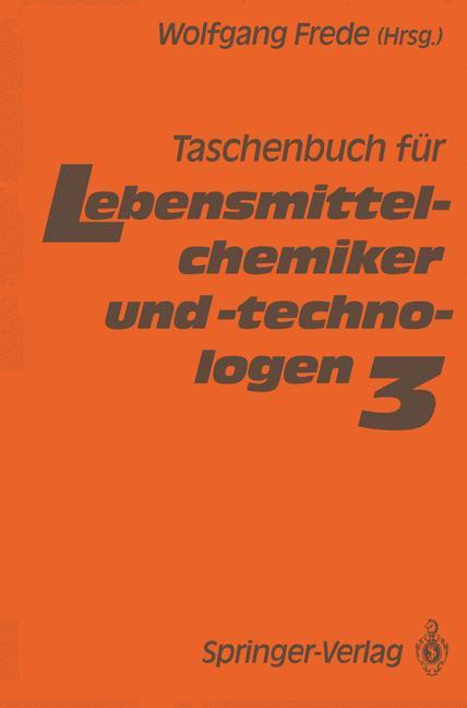 Cover of 'Taschenbuch für Lebensmittelchemiker und -technologen'