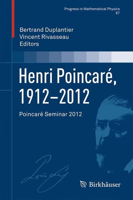 Cover of 'Henri Poincaré, 1912–2012'