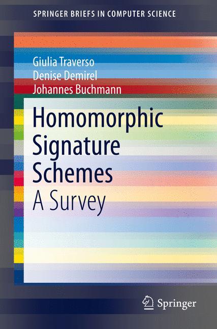 Cover of 'Homomorphic Signature Schemes'
