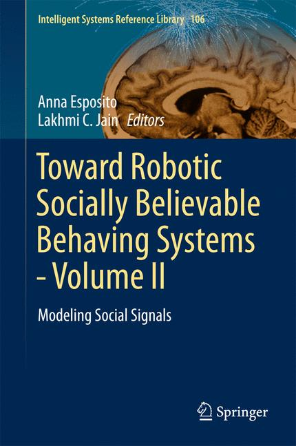 Cover of 'Toward Robotic Socially Believable Behaving Systems - Volume II'
