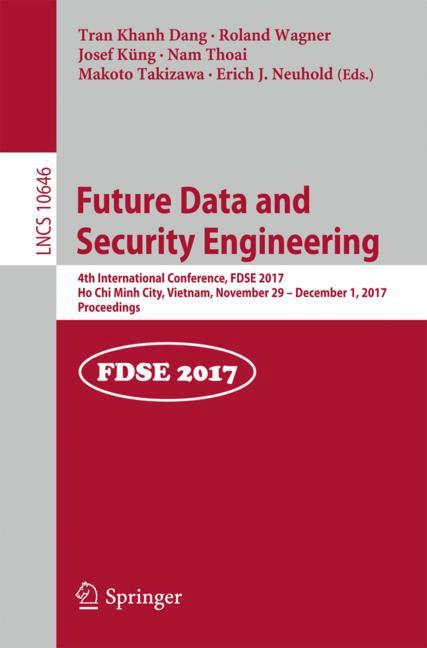 Cover of 'Future Data and Security Engineering'