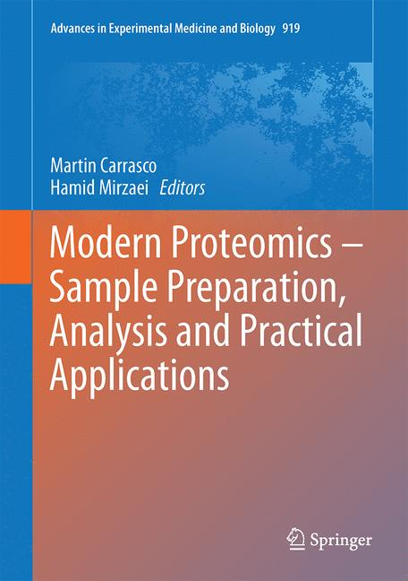 Cover of 'Modern Proteomics – Sample Preparation, Analysis and Practical Applications'