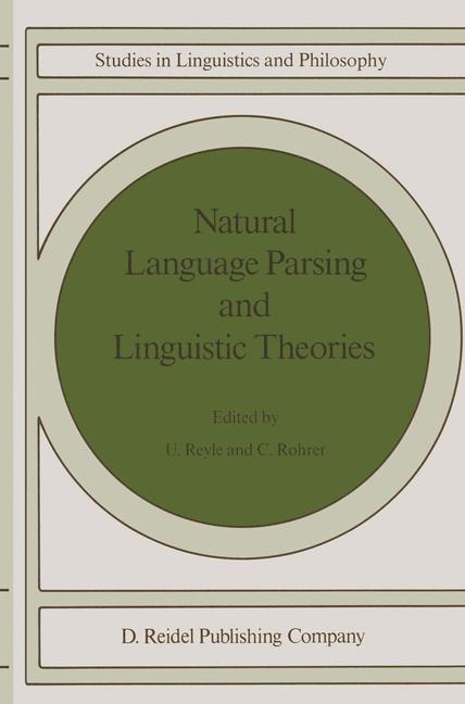 Cover of 'Natural Language Parsing and Linguistic Theories'