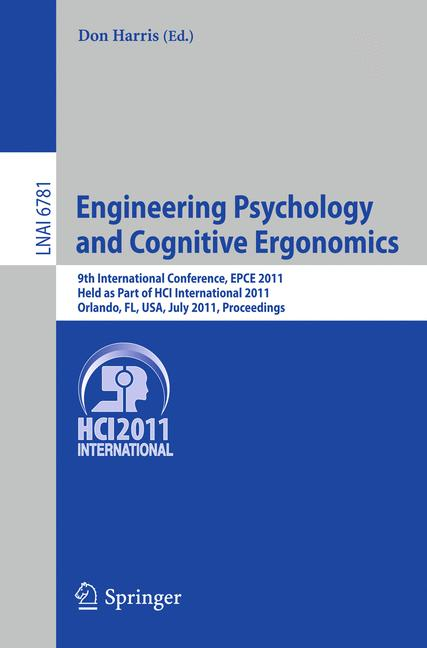 Cover of 'Engineering Psychology and Cognitive Ergonomics'