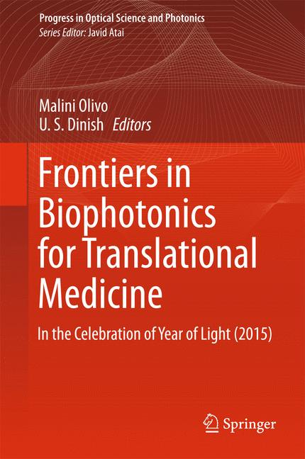 Cover of 'Frontiers in Biophotonics for Translational Medicine'