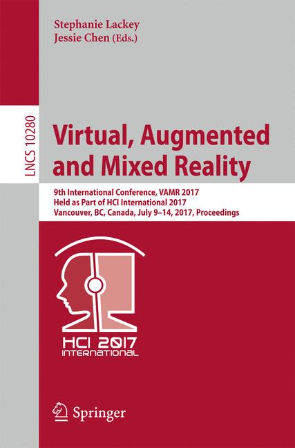 Cover of 'Virtual, Augmented and Mixed Reality'