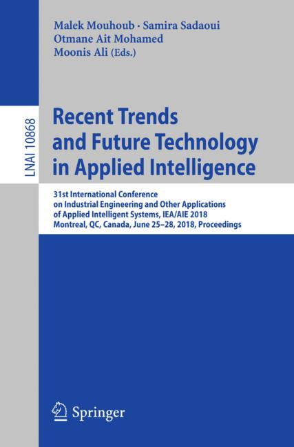 Cover of 'Recent Trends and Future Technology in Applied Intelligence'