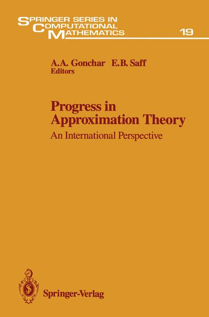 Cover of 'Progress in Approximation Theory'