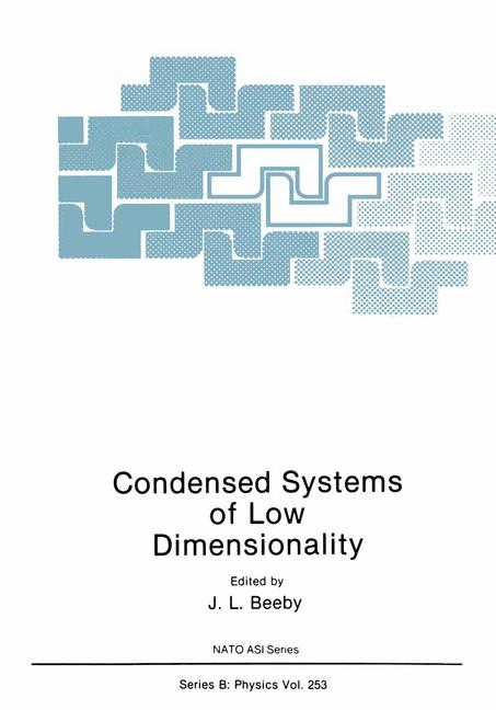 Cover of 'Condensed Systems of Low Dimensionality'