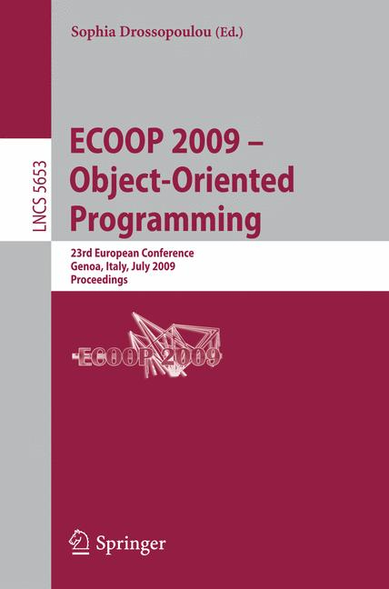 Cover of 'ECOOP 2009 – Object-Oriented Programming'