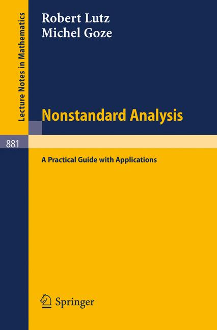 Cover of 'Nonstandard Analysis'
