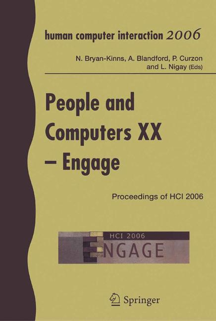 Cover of 'People and Computers XX — Engage'