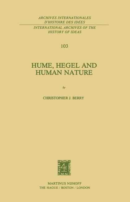 Cover of 'Hume, Hegel and Human Nature'