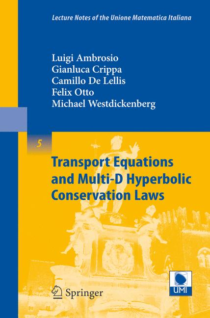 Cover of 'Transport Equations and Multi-D Hyperbolic Conservation Laws'