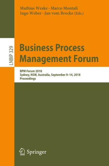 Cover of 'Business Process Management Forum'