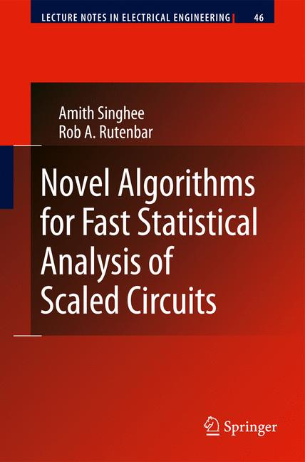 Cover of 'Novel Algorithms for Fast Statistical Analysis of Scaled Circuits'