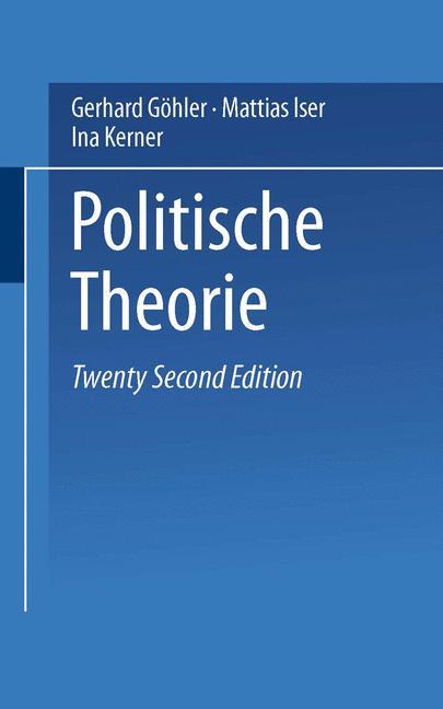 Cover of 'Politische Theorie'