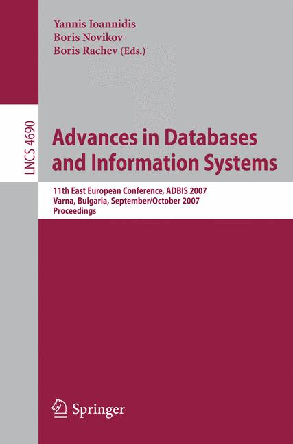 Cover of 'Advances in Databases and Information Systems'