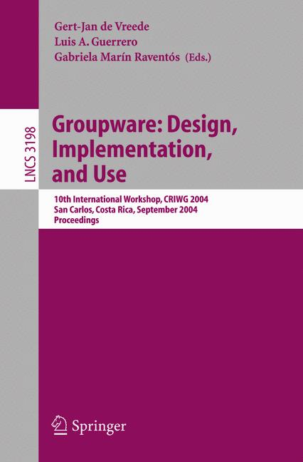 Cover of 'Groupware: Design, Implementation, and Use'