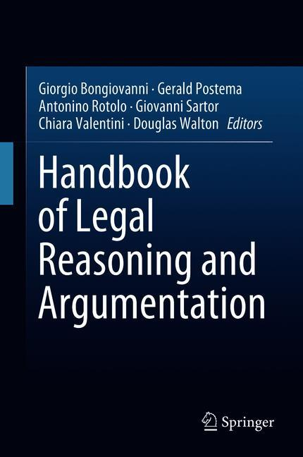 Cover of 'Handbook of Legal Reasoning and Argumentation'