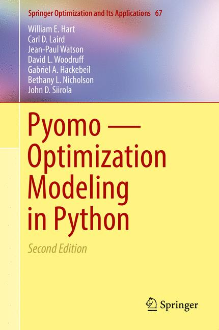 Cover of 'Pyomo — Optimization Modeling in Python'