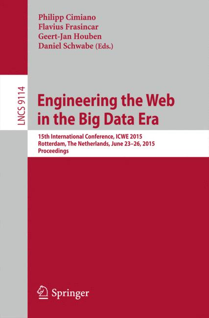 Cover of 'Engineering the Web in the Big Data Era'