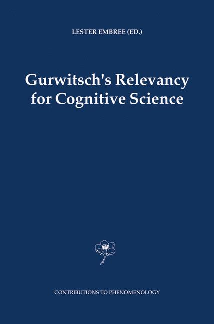 Cover of 'Gurwitsch's Relevancy for Cognitive Science'