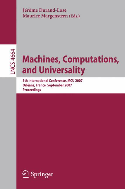 Cover of 'Machines, Computations, and Universality'