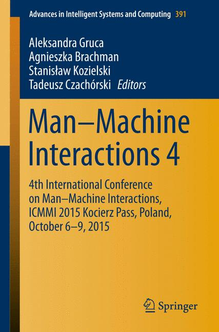 Cover of 'Man–Machine Interactions 4'