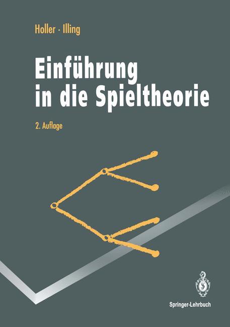 Cover of 'Einführung in die Spieltheorie'