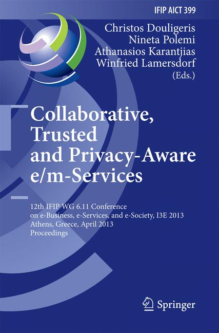 Cover of 'Collaborative, Trusted and Privacy-Aware e/m-Services'