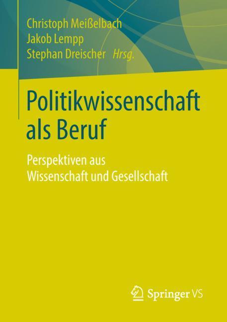 Cover of 'Politikwissenschaft als Beruf'