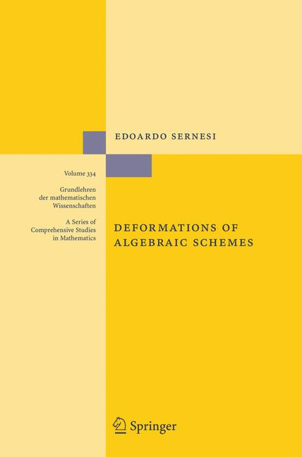 Cover of 'Deformations of algebraic schemes'