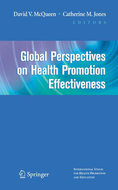 Cover of 'Global perspectives on health promotion effectiveness'