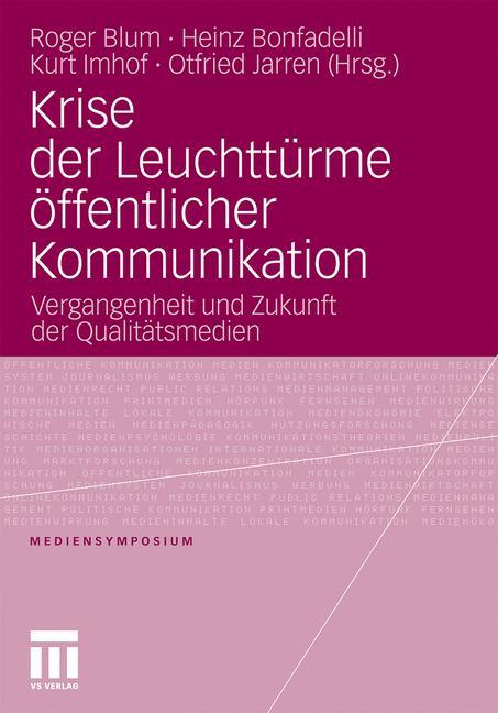 Cover of 'Krise der Leuchttürme öffentlicher Kommunikation'